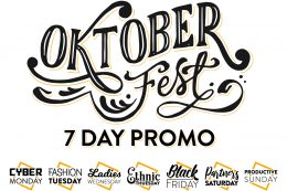 OKTOBERFEST : 7 Day Promo