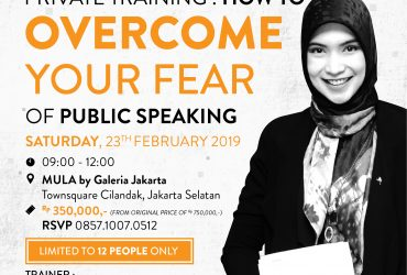 Private Training : Overcome Fear of Public Speaking