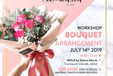Rosy Posy : Flower Bouquet Arrangement Workshop