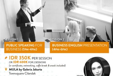 MULA x Tutur Indonesia : Public Speaking for Business & Business English Presentation Courses