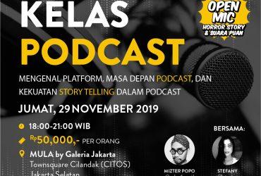 Kelas Podcast bersama @PodcastHoror.id dan @Kata.Puan